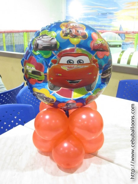 Balloon Centerpiece (Cars)
