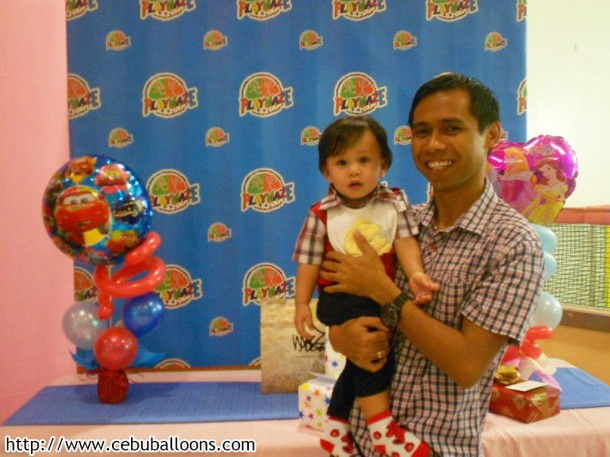 Daddy Mark & Son Rafael at the Gifts Table