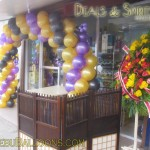 Balloon Arch at Deals & Spirits Trading in Guadalupe