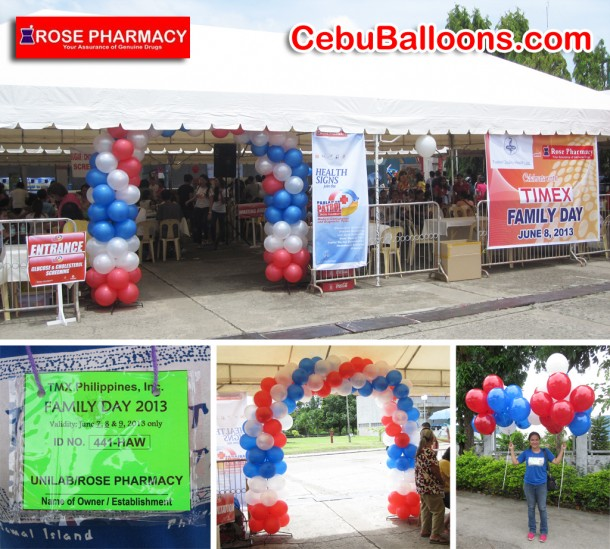 Balloon Arch for Rose Pharmacy at Timex Philippines
