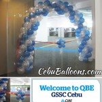 Balloon Arch with Topiary for Ribbon Cutting at QBE Cebu