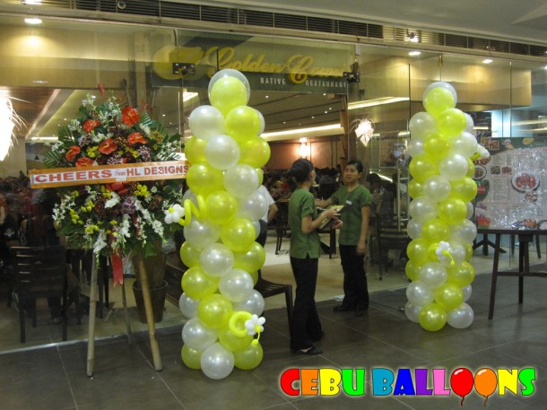 Balloon Columns for Golden Cowrie's (SM CIty Cebu) Re-opening