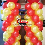 Balloon Columns for Julie's Bakeshop Opening