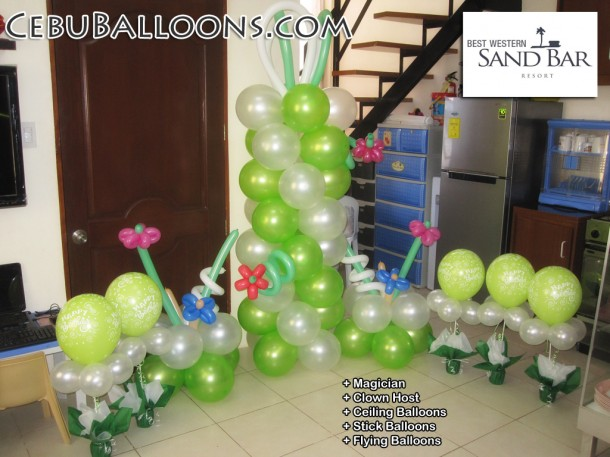 Balloon decoration package for best western cebu sand bar for Balloon decoration packages manila