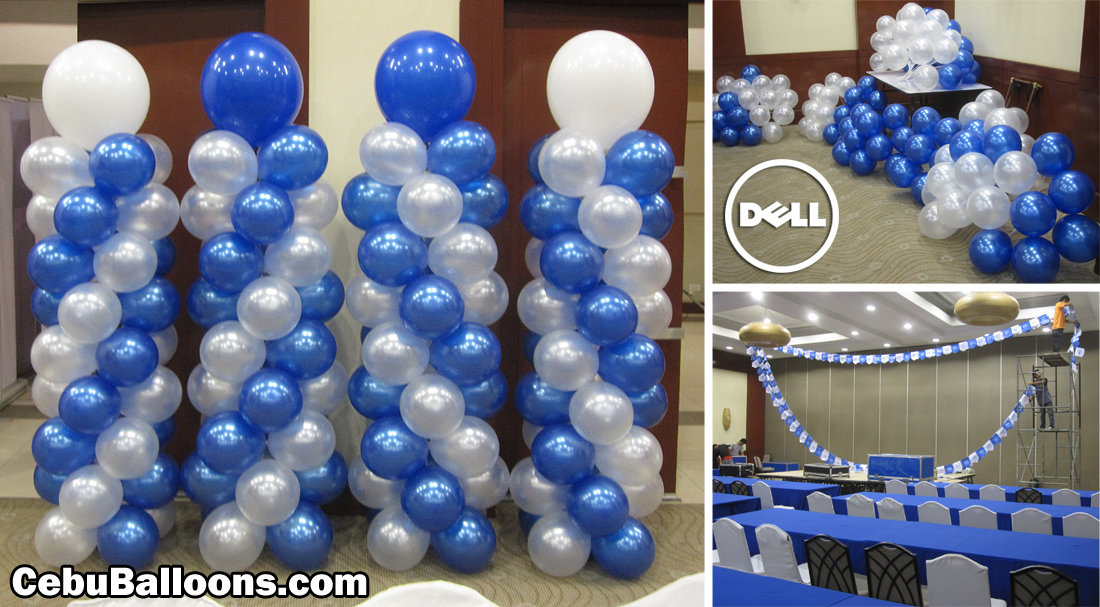 Dell balloon pillars cebu balloons and party supplies for Ballom decoration
