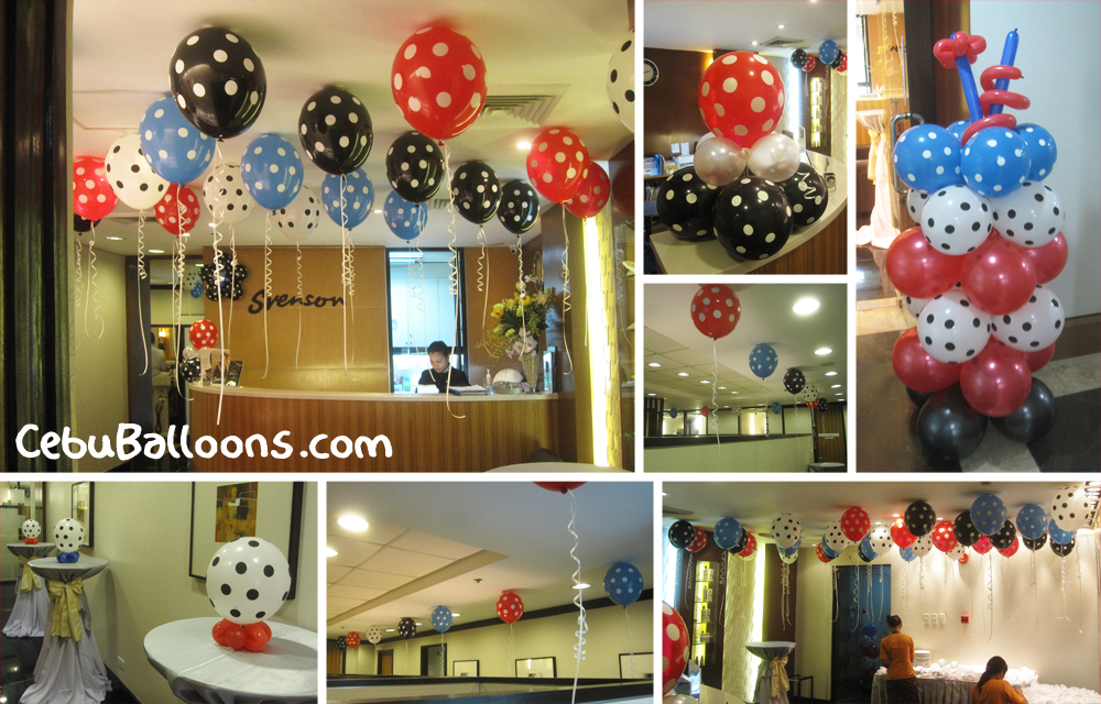 Balloon decorations for hungrry na me restaurant cebu