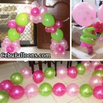 Balloon Decorations (Pink, Hot Pink, Light Green) for Cebu Pacific Catering Services Inc
