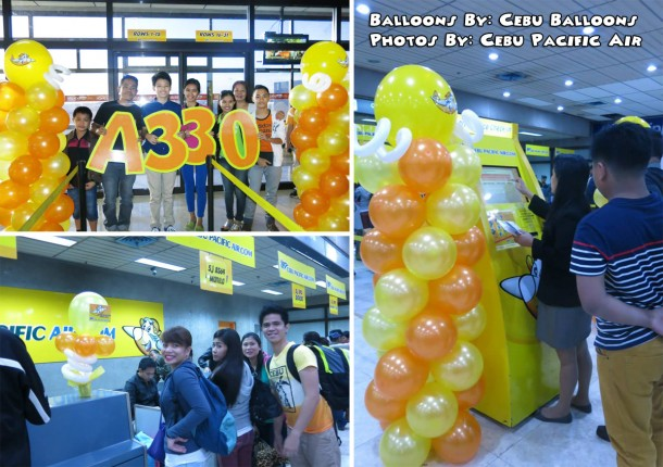 Balloon Decorations for Cebu Pacific at Mactan-Cebu Airport