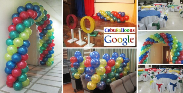 Balloon Decorations for Google's Conference at USJR