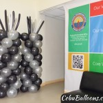 Balloon Pillars (Black, White, Silver) at Provincial Information Office-Capitol