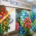 Balloon Pillars for World Connect Travel Agency
