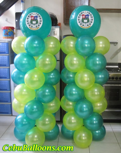 Balloon Pillars with Logo for University of San Carlos