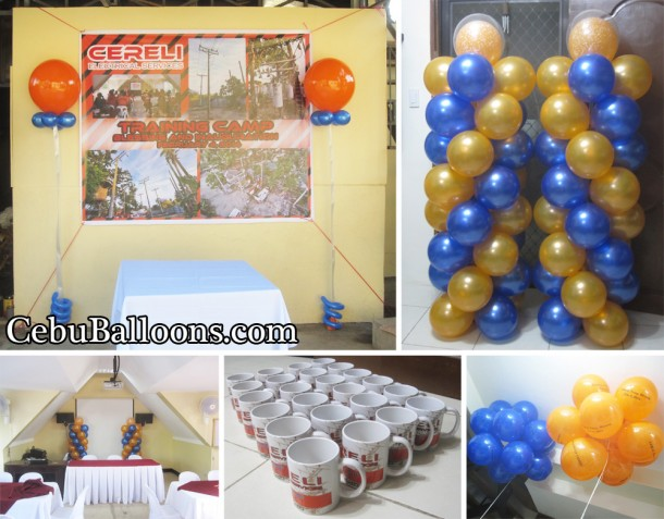 Balloons and Mugs for CERELI Electrical Services