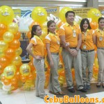 Balloons with Cebu Pacific Staff