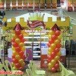 Castle Balloon Pillars for Wellmade Manufacturing Corporation