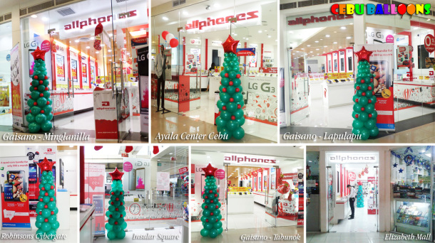 Christmas Tree Balloon Design at Allphones Branches (Tao Dharma Inc)