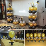 Gold, Black & Silver Balloons for Hallar & Associates Christmas Party at City Sports