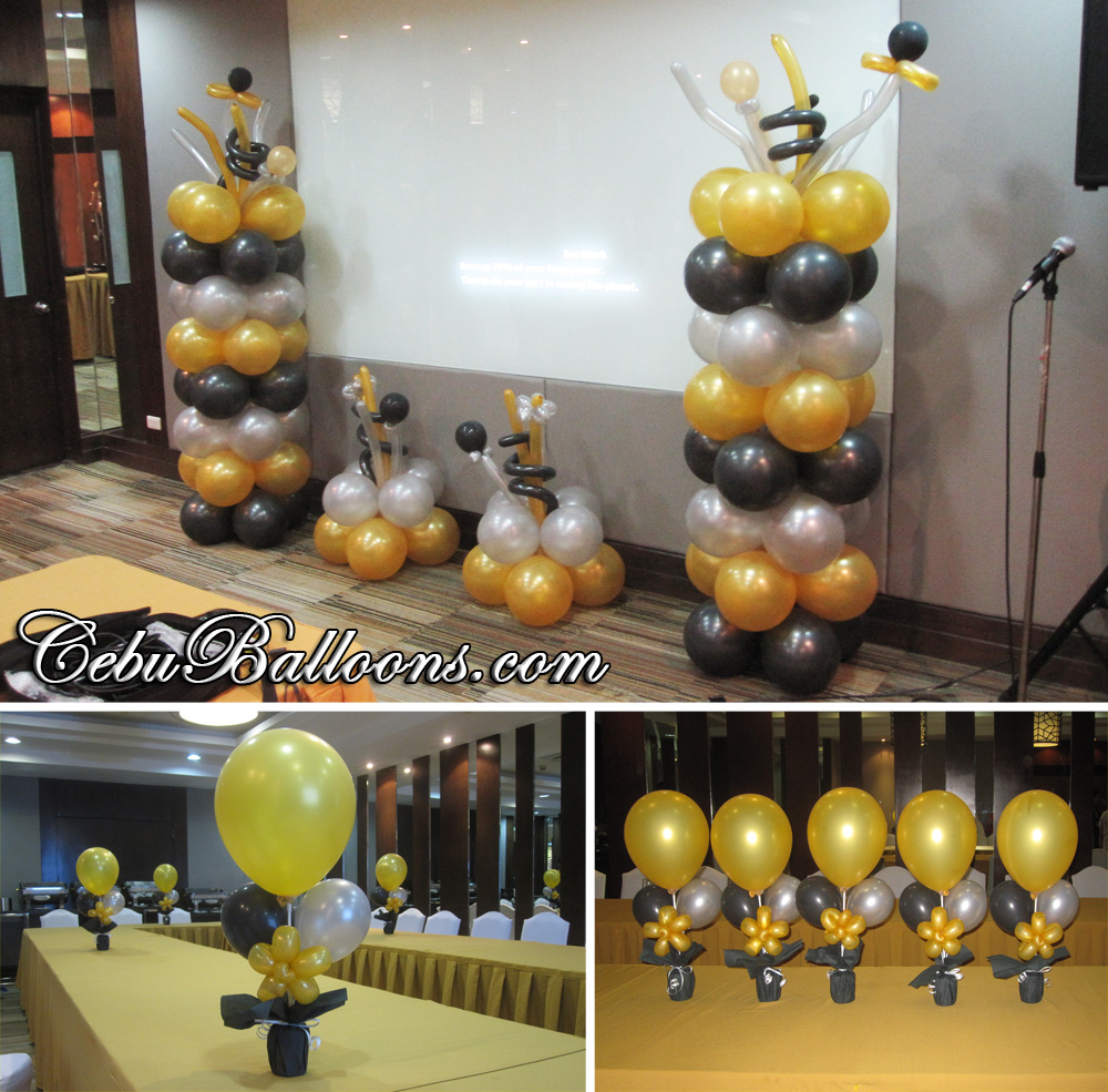 Gold Black Amp Silver Balloons For Hallar Amp Associates