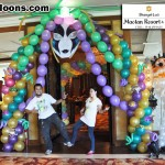 Mardi Gras Theme Balloon Arch at Shangri-la Mactan
