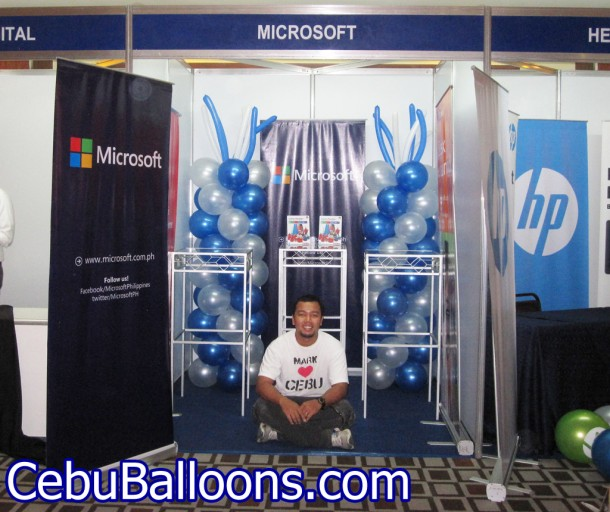 Microsoft Philippines & Intel Balloon Columns in Marriot Hotel