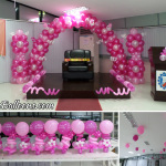Shades of Pink Balloon Decoration at DPWH Region 7 Office