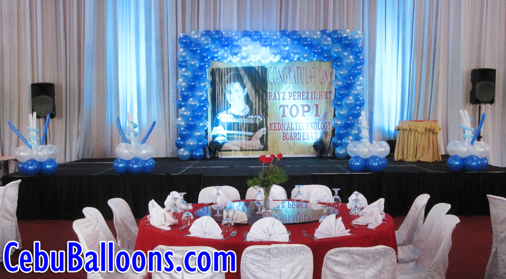 Stage Decoration For Med Tech Board Exam Topnotcher