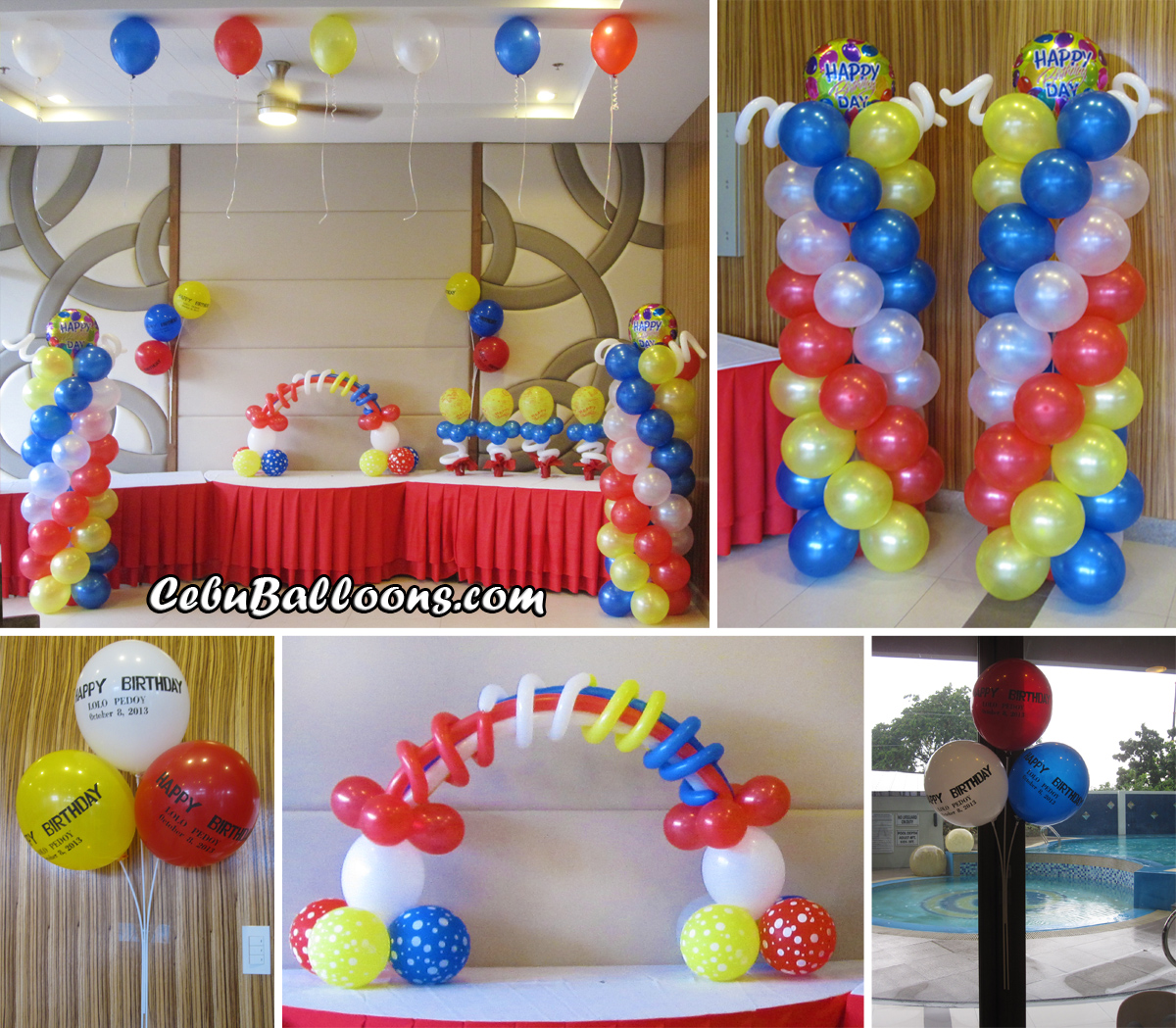 Rainbow cebu balloons and party supplies for Balloon decoration ideas for 1st birthday