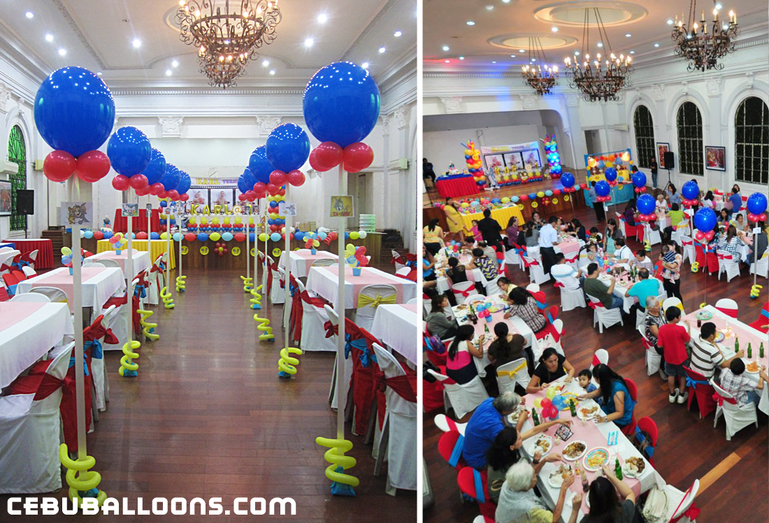 Aisle Balloons Stage Decoration