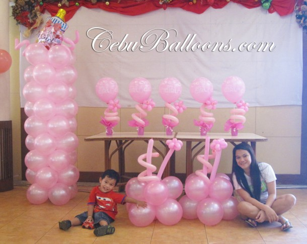 All Pink Christening Decoration at Sugbahan