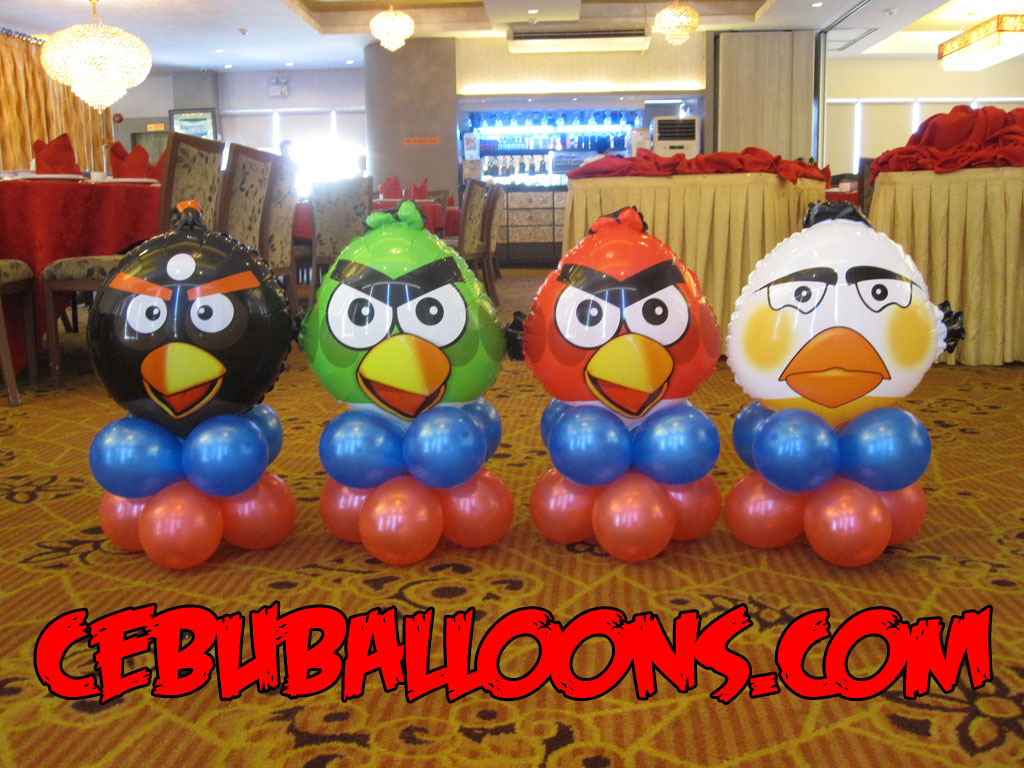 Angry birds cebu balloons and party supplies for Angry birds party decoration ideas