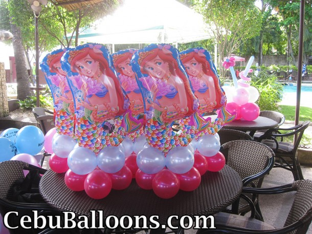 Ariel the Little Mermaid Centerpieces at SandTrap