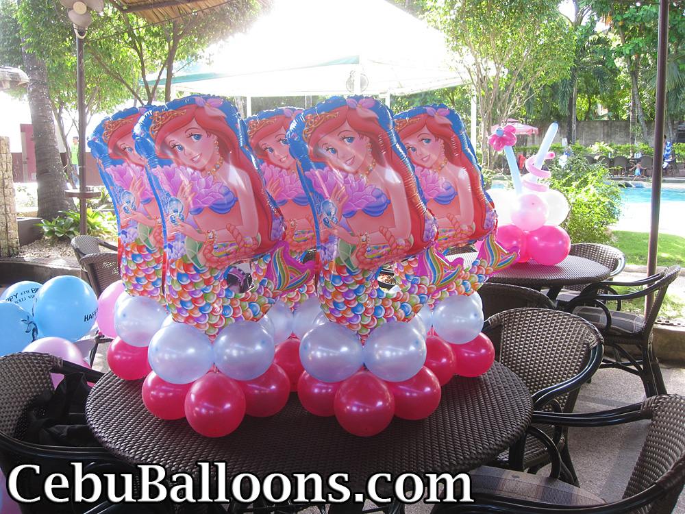 little mermaid ariel cebu balloons and party supplies. Black Bedroom Furniture Sets. Home Design Ideas