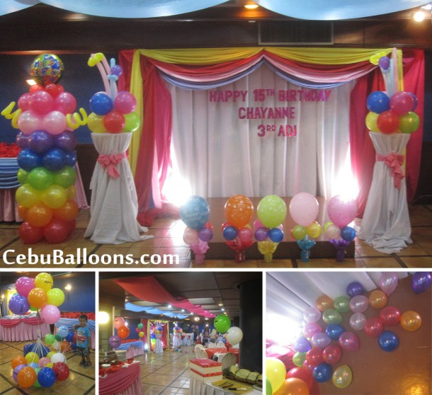 Assorted Colors Balloon Decoration at Royal Concourse