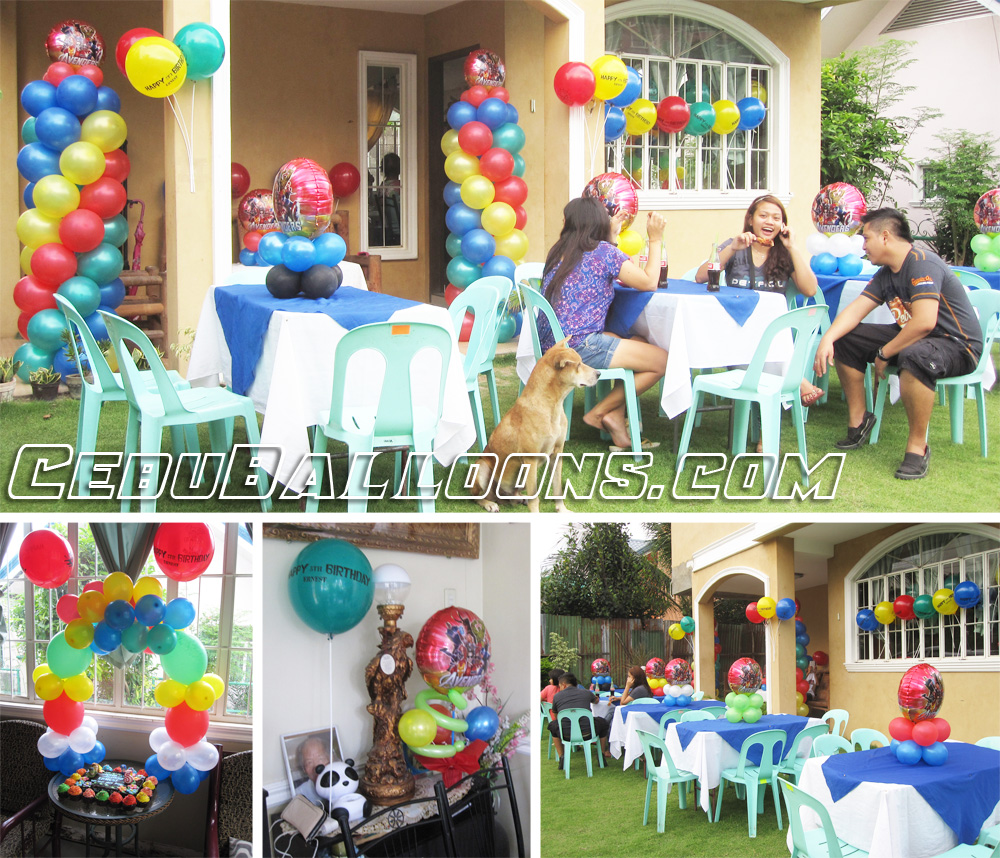 Avengers Balloon Setup at Alpha Executive Homes in Talisay : avengers table and chair set - pezcame.com