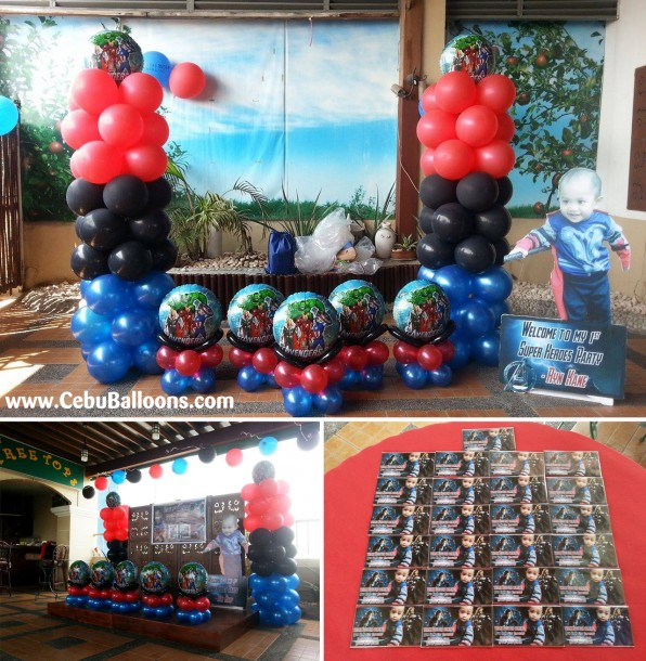 Avengers (Mighty Thor) Theme Balloon Decors with Tarp and Ref Magnets at Apple Tree Suites