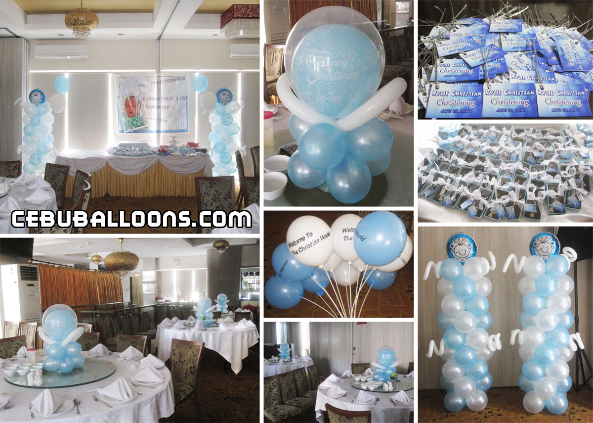 Christening boy cebu balloons and party supplies for Baby boy baptism decoration ideas