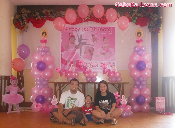 Ballerina Balloon Decoration Package at Sugbahan