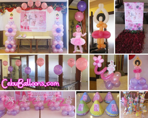 Ballerina Balloon Decoration and Party Package - Composite