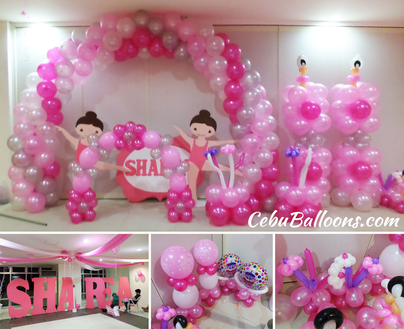 Ballerina cebu balloons and party supplies for Ballerina party decoration