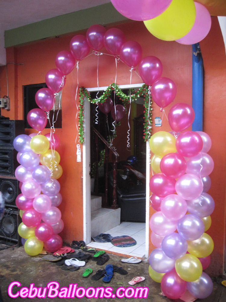 Barbie cebu balloons and party supplies for Balloon decoration images for birthday party