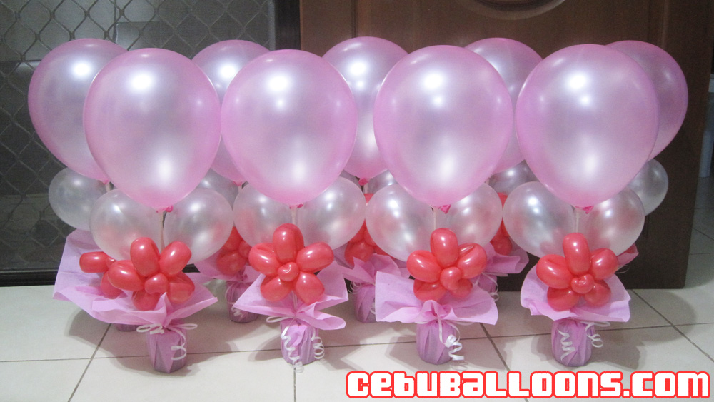 Plastic Flower Vase Cebu: Balloon Arrangement For Debut