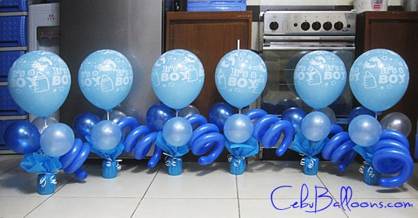 Balloon Centerpieces for Christening