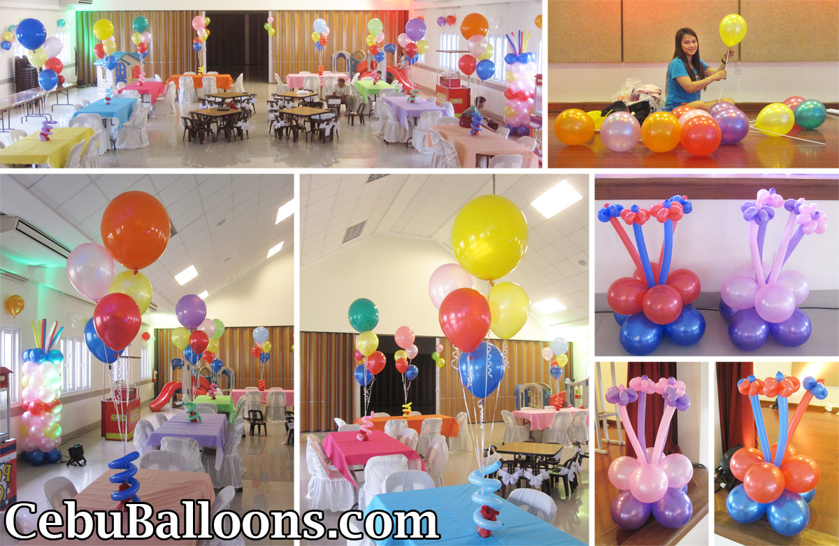 Rainbow cebu balloons and party supplies for 1st birthday decoration packages