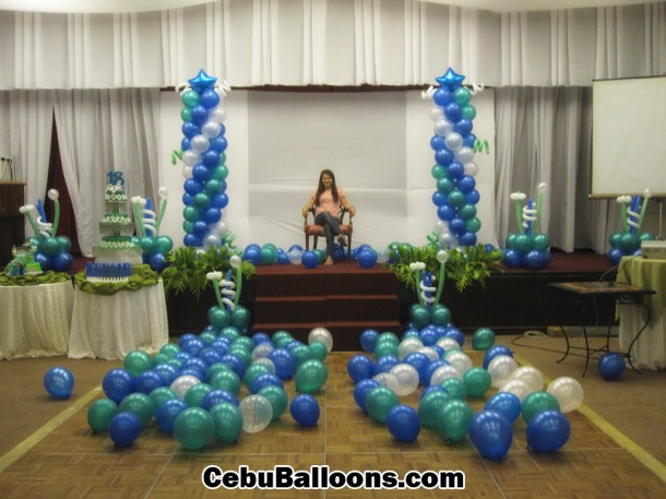 Balloon Decoration Package for Debut at Montebello Villa Hotel Ballroom