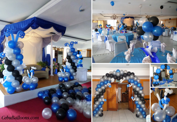 Debut 18th birthday cebu balloons and party supplies for Balloon decoration in birthday parties