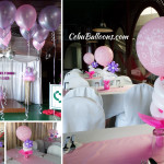Balloon Decoration for Baby Ezra's Christening at Royal Concourse (Cafe Royale)