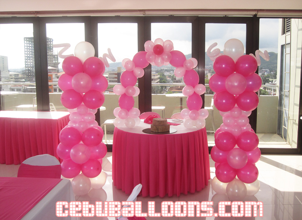 Balloon Decoration For Wedding At Premiere Citi Suites Cebu