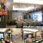 Balloon Decoration for a Christening at Kuya J's Restaurant in Escario