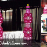Balloon Decoration for a Girl's Christening Party at URL Resto Lounge