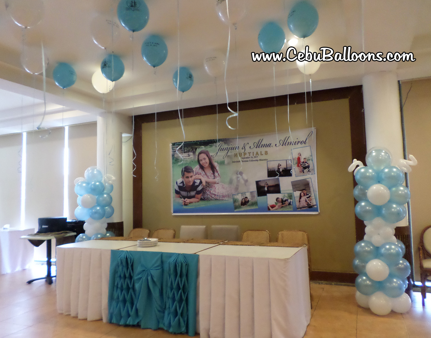 Balloon decoration for a wedding celebration at sugbahan cebu